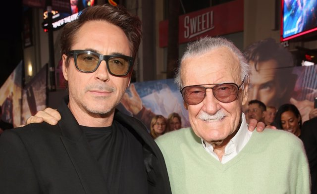 Robert Downey Jr. Junto a Stan Lee