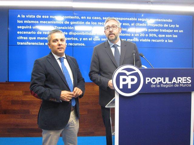 Jesús Cano y Víctor Martínez del PP