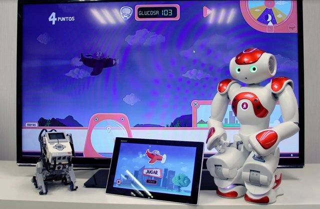 Videojuegos y robots para enseñar a los niños a gestionar la diabetes
