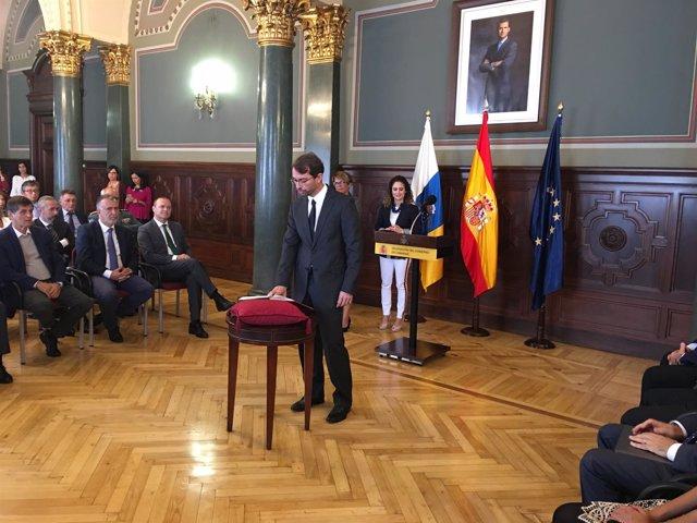 Toma de posesión del presidente de la ZEC, Antonio Oliveira