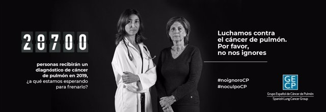 Campaña 'Luchamos contra el cáncer de pulmón. No nos ignores' del GECP