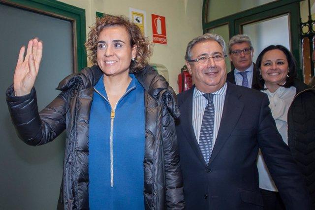 Dolors Montserrat, junto a Juan Ignacio Zoido