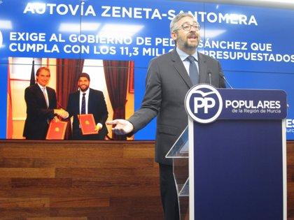 PP exige al Gobierno de Pedro Sánchez los 11,3 millones presupuestados para la autovía Zeneta-Santomera