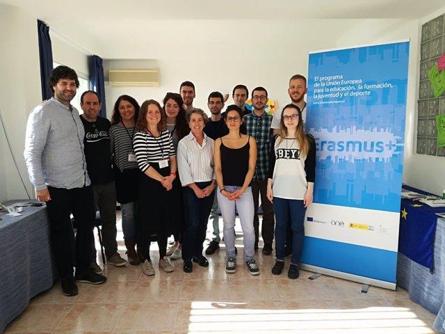 Jóvenes de intercambio del programa de voluntariado 'Erasmus + Juventud'