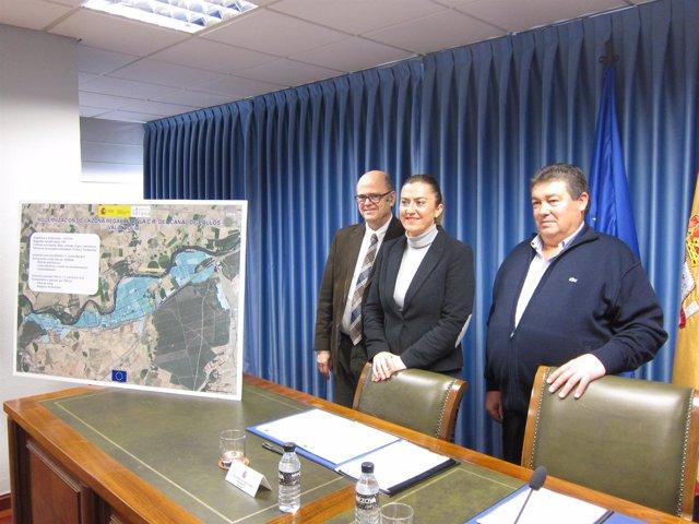 Firma del convenio para la modernización de regadíos en el Canal de Pollos