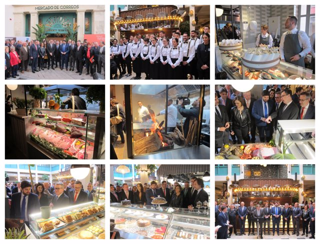 Imágenes de la inauguración del Mercado de Correos