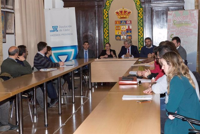 Reunión en la Diputación de Cádiz por el Callejero Digital de Andalucía