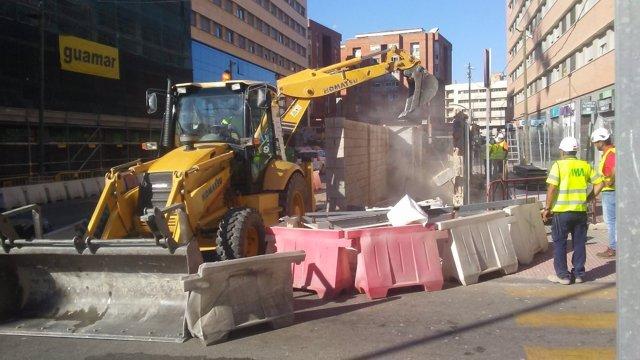 Retoman obras del metro tramo Renfe-Guadalmedina