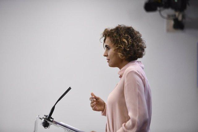 Rueda de prensa de la portavoz del PP en el Congreso, Dolors Montserrat