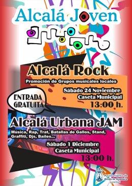 CarteL anunciador de Alcalá Rock.