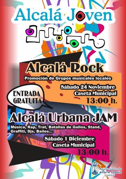 Apoyo municipal a cultura y dinamización juvenil con 'Alcalá Rock' y 'Alcalá Urbana Jam' en Alcalá de Guadaíra (Sevilla)