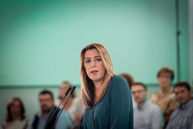 La secretaria general del PSOE-A y presidenta de la Junta, Susana Díaz