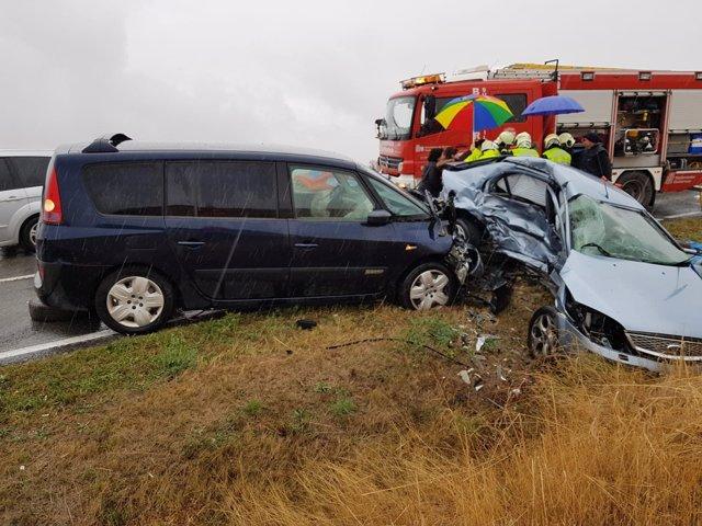 Accidente de tráfico en Lodosa