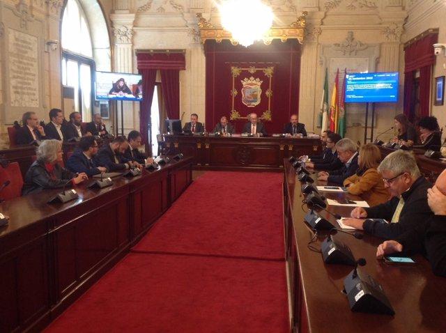 El pleno extraordinario en el Ayuntamiento de Málaga