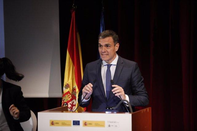 Presidente del Gobierno, Pedro Sánchez, en encuentro '+Futuro +Progreso = +FP'