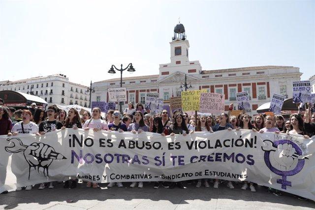 Manifestación contra la sentencia de 'La Manada'