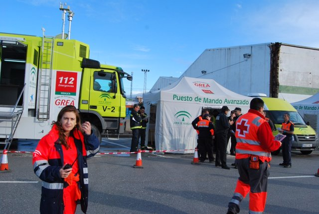 Simulacro de emergencias coordinación accidente fuel  junta