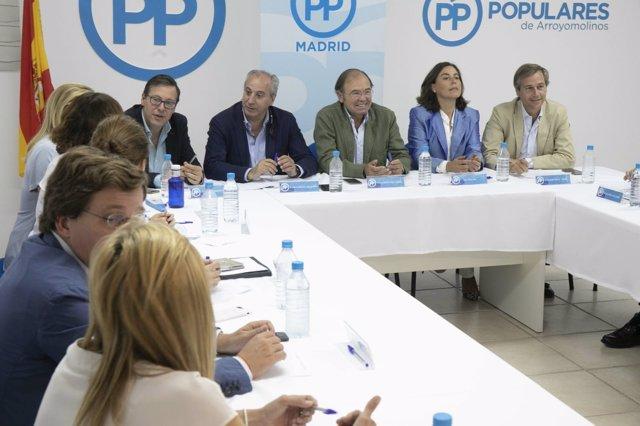 El PP de Madrid celebra su Comité Ejecutivo Regional en Arroyomolinos.