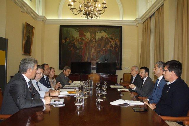 Reunión de Gómez de Celis conuna comisión de Asuntos Exteriores
