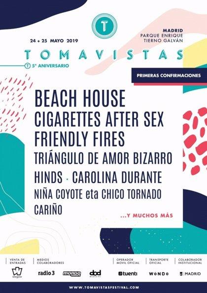 Beach House, Cigarettes After Sex, Hinds y Carolina Durante, entre las primeras confirmaciones del Tomavistas 2019