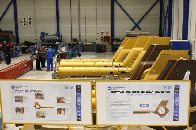 Fabricación de helicópteros en el Parque Aeronáutico y Logística de Albacete