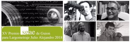 Jorge Gil Munárriz, Alberto Pernet y Amilcar Salatti optan al XV Premio SGAE de Guion Julio Alejandro dotado en 25.000 €
