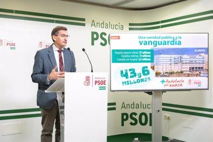 """El PSOE señala la """"apuesta"""" de la Junta por la provincia de Almería """"con una inversión diaria de tres millones de euros"""""""