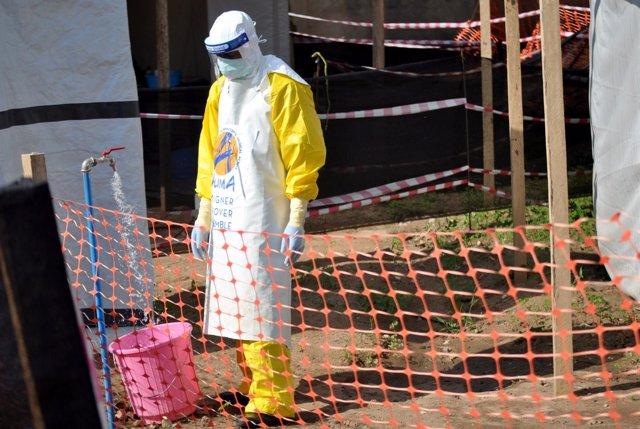 Centro de tratamiento contra el ébola en Beni