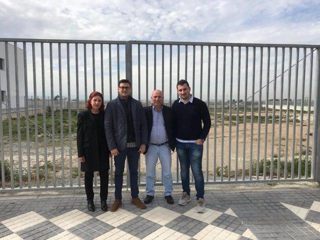 Visita del candidato popular al Parlamento andaluz Rafael Caracuel