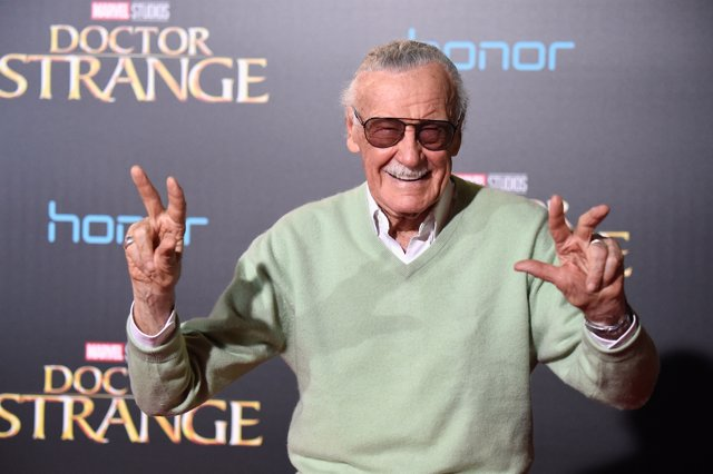 El escritor de cómics, Stan Lee