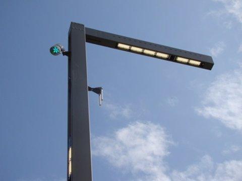 Farola de LED, del plan iluminación inteligente.