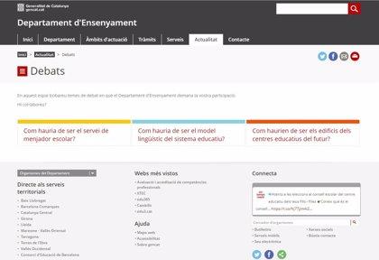 Enseñanza abre un espacio de participación online para la comunidad educativa