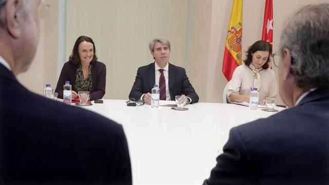 El presidente regional Ángel Garrido y la consejera de Justicia Yolanda Ibarrola
