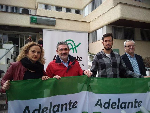 Burgos, Villa y Alcalá ante el Centro de Salud de Lucena