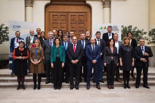 Participantes en el plenario de al CTP y la ministra de Andorra Maria Ubach