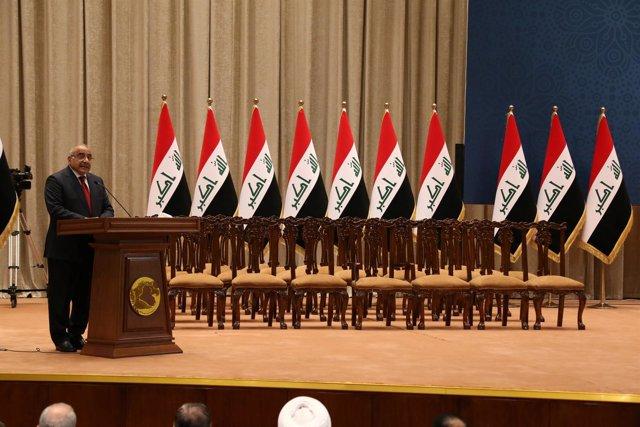 El primer ministro de Irak, Adel Abdul Mahdi, ante el Parlamento