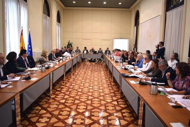 Reunión del Gobierno y ayuntamientos sobre reto demográfico