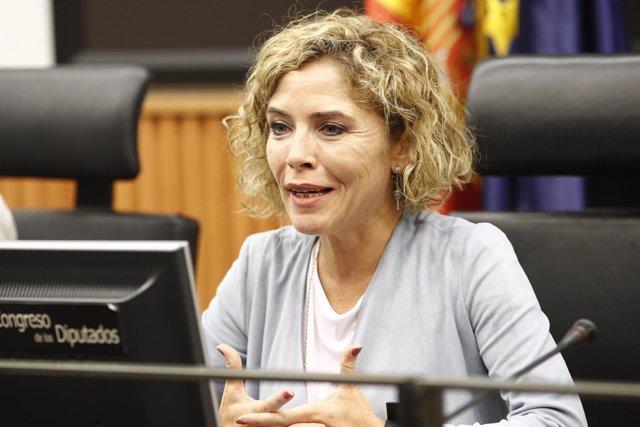 Marta Martín de Ciudadanos ofrece una rueda de prensa del partido