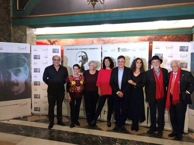 Galardonados de la IV Edición de los Premios Labordeta