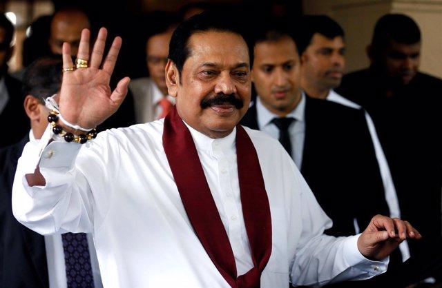 Primer ministro de Sri Lanka Mahinda Rajapaksa