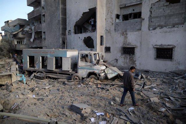 Bombardeo de Israel en Gaza contra la televisión Al Aqsa, vinculada a Hamás