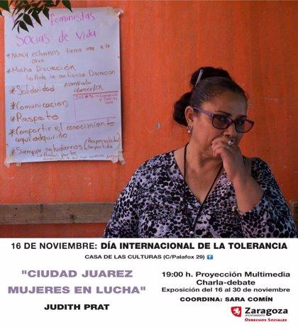 La fotoperiodísta Judith Prat presenta en Zaragoza (España) su trabajo sobre feminicidios en Ciudad Juárez (México)