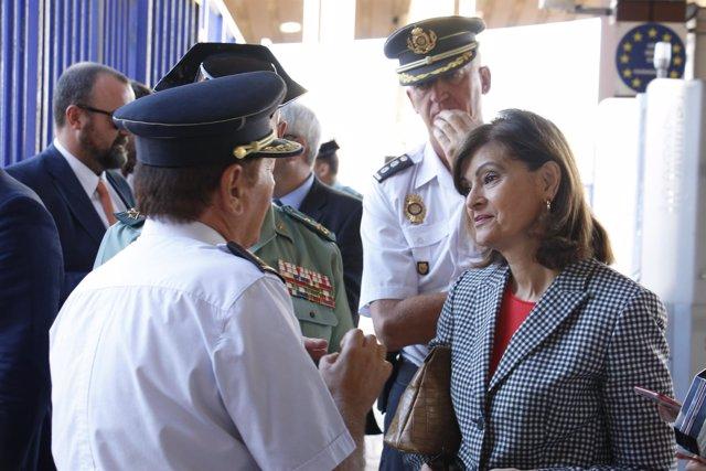 La Secretaria de Estado de Seguridad, Ana Botella, visita Melilla. FOTOS/ Cristi