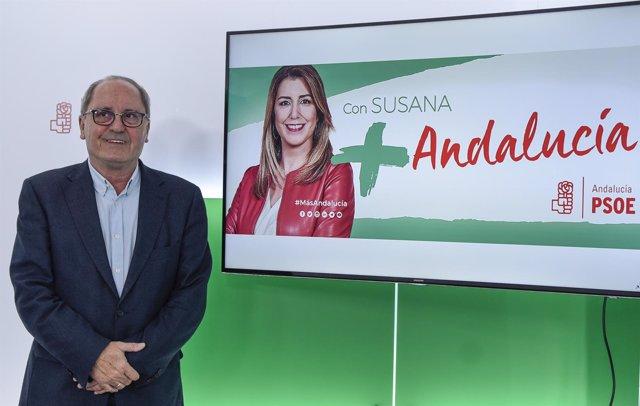 En Sevilla, el secretario de Organización del PSOE-A y coordinador de la campañ