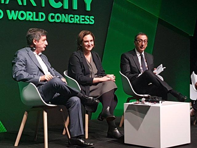 Giorgio Kaminis, Ada Colau y Giuseppe Sala