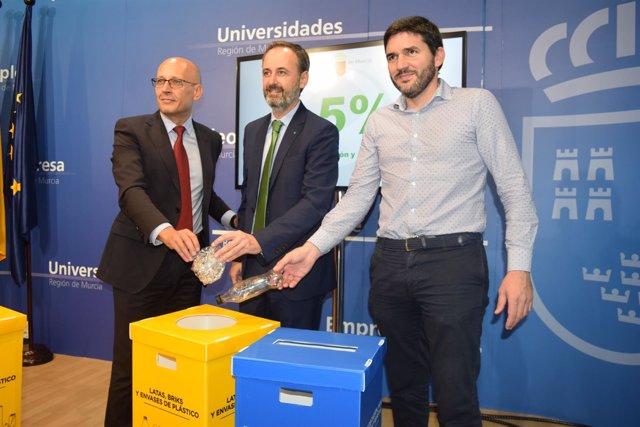 Imágenes de la rueda de prensa en la que se ha informado de reciclaje Ecoembes
