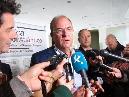"""Monago considera el Corredor Mediterráneo el """"gran competidor"""" del Atlántico al atraer infraestructuras y presupuesto"""