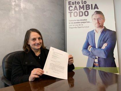 Perdonados 85.654 euros con la Ley de la Segunda Oportunidad a una mujer divorciada, con hijos y en el paro