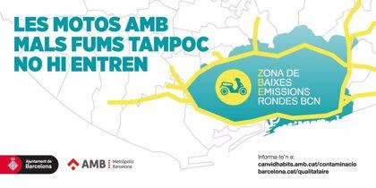 Las motos más contaminantes tampoco podrán circular en Barcelona en episodios ambientales