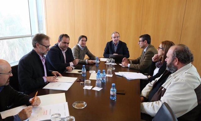Reunión sobre EDAR Guadalhorce